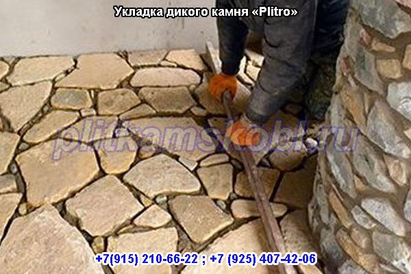 Укладка дикого (фасадного) камня