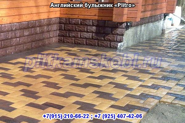 Примеры укладки тротуарной плитки Английский Булыжник в Шатурском районе (городской округ Шатура)